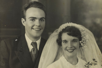 Pictured is Phyllis' daughter Verree and son-in-law Ken Callaghan on their wedding day.