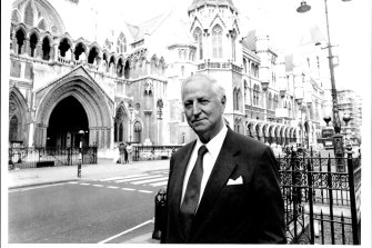 Dr William McBride in London in 1993 after learning he had been struck off the NSW medical register.