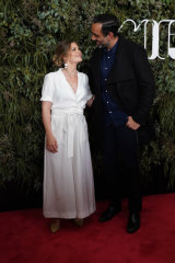 Adam Goodes and wife Natalie Goodes  at the world premiere of The Australian Dream in Melbourne.