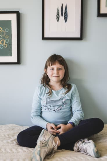 Nine-year-old Lucinda McGarrigan has learnt it is better to give than receive.