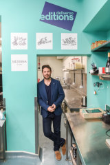 Levi Aron inside Deliveroo's dark kitchen.
