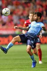 Fit and firing: Daniel De Silva made his return from a two-month hamstring injury in the FFA Cup final.