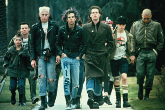 The real-life punk cast of Suburbia, including (rear left) the Chili Peppers' Flea.