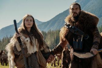 Hera Hilmar and Jason Momoa star in Apple TV+ show See.