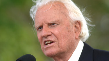 The Reverend Billy Graham, pictured in 2005, has died at his home in North Carolina aged 99. He preached to more people than anyone in history.
