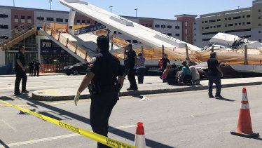 There reports of workers on the bridge when it collapsed.