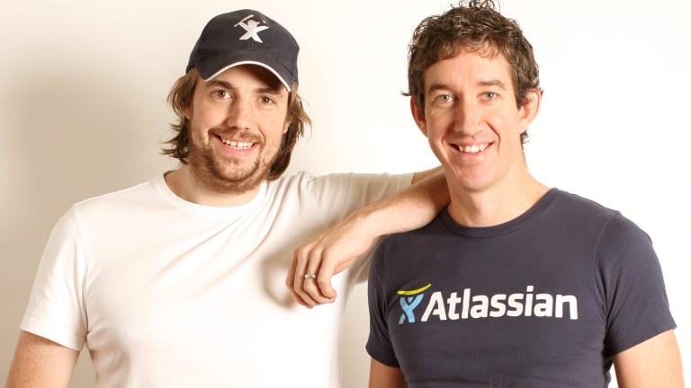 Atlassian co-founders Scott Farquhar, right, and Mike Cannon-Brookes  are the 499th and 500th richest people on the planet.