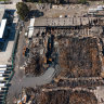 Toxic waste stockpile found in rubble of burnt-down warehouse