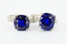 These two rings consigned by Melbourne vendors had been in the family for at least 100 years, not realising that they were set with rare Kashmir sapphires.