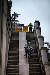 Cyclists have been waiting for a long time for ramps to replace the steps on the Sydney Harbour Bridge.