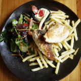Goldband snapper and chips at Charcoal Lane.