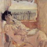 Lucie Hessel Dreaming at the Seaside, 1902, by Edouard Vuillard.