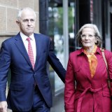 Prime Minister Malcolm Turnbull and Lucy Turnbull.