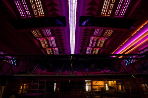 The Enmore's impressive new ceiling lighting, restored according to its original 1936 plans.