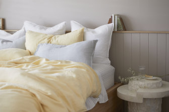 The Sheet Society's latest colour 'Butter' is available in their cotton or linen ranges.
