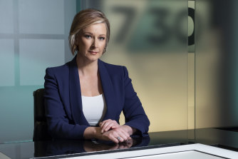Leigh Sales hosts the ABC's flagship current affairs program 730.