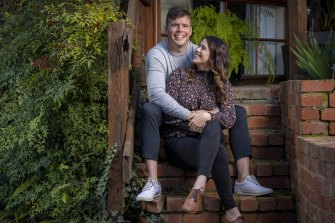 Brie and Luke O'Loughlin are now happily married after meeting online in June last year.