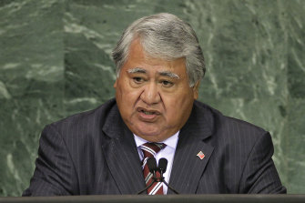 Tuilaepa Sailele Malielegaoi hsa been Samoa's prime minister for 22 years but lost the April election.