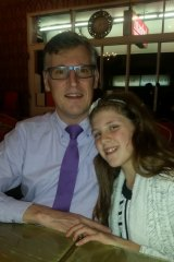 Dave with his youngest daughter.