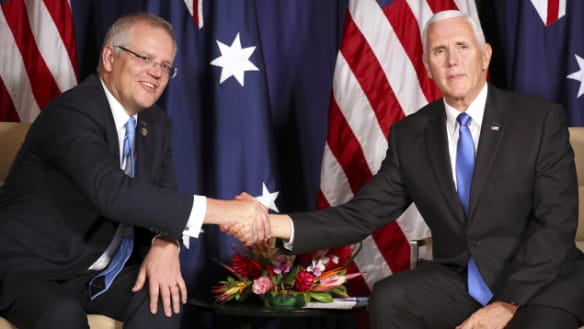 Pence announces US-Australia military pact to expand Manus Island naval base