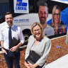 WA opposition leader Zak Kirkup and deputy leader Libby Mettam with their 2021 campaign bus.