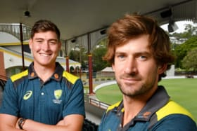Chance goes begging: Matthew Renshaw, left, and Joe Burns again went cheaply against Sri Lanka.