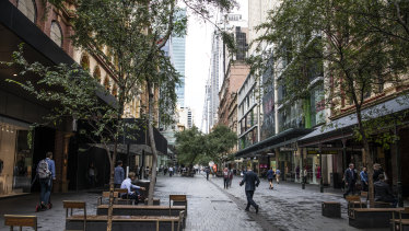 Sydney's Pitt Street Mall has seen a noticeable decline in foot traffic.