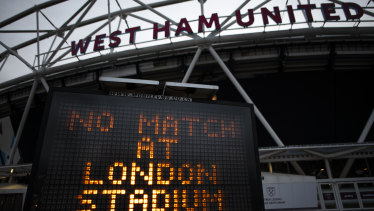 Football in Britain has been suspended since March 13, throwing the Premier League campaign into chaos.