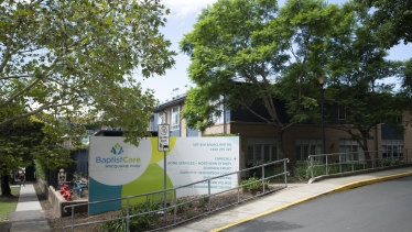 The Dorothy Henderson Lodge in Macquarie Park, where six residents died from COVID-19.