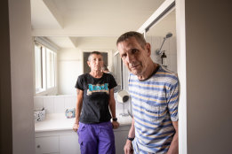 Robert and Simone Lee at their Gold Coast home.