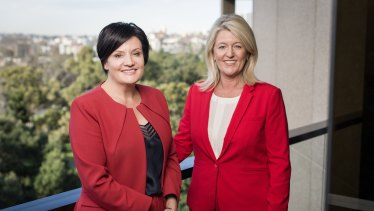 NSW Labor Party leader Jodi McKay (left) and her deputy, Yasmin Catley.