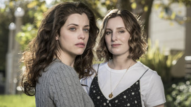 Jessica de Gouw and Laura Carmichael star in The Secrets She Keeps.