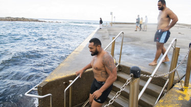 Deep water: Sekope Kepu, front, will have to miss one of the Waratahs' next two games.