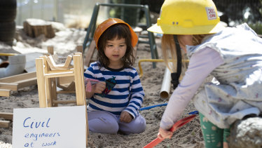 Children atWindermere Early Learning Centre & Kindergarten solve problems in their imaginaryPlayworld.