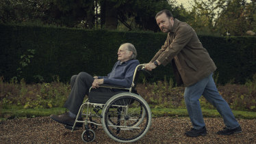 Ricky Gervais and David Bradley in After Life