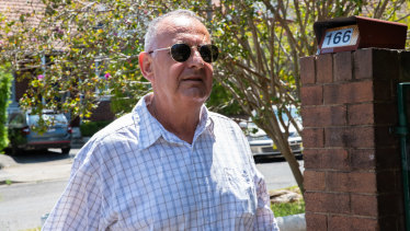 Disgraced former politician and convicted paedophile Milton Orkopoulos before arriving at Waverley Local Court  in January.