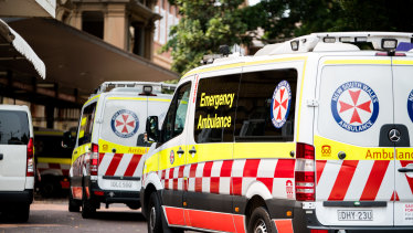 The NSW Ambulance network was inundated on Monday, with 400 calls in two hours.