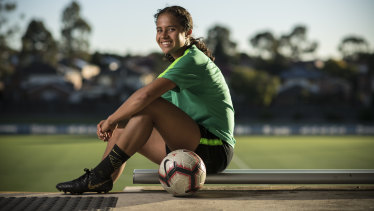 World at her feet: Fowler has exceptional potential, and shapes as Australia's best striker since Sam Kerr.