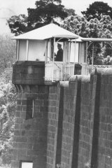A guard tower at Pentridge Prison in 1983