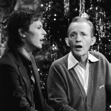 David Bowie and Bing Crosby sing together for Christmas in 1977.