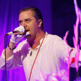 Mike Patton on stage with Faith No More in Melbourne as part of the Soundwave festival in 2015.