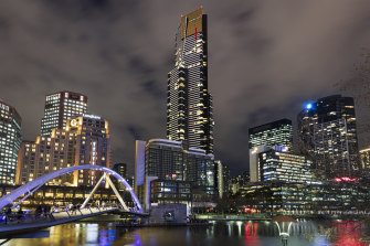 Eureka Tower, one of the distinctive contemporary buildings of Melbourne.