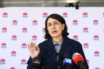 Gladys Berejiklian has toughened lockdown rules after a surge in new cases.