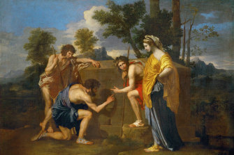 The Arcadian Shepherds (Et in Arcadia ego), circa 1638, can be found in the Louvre.