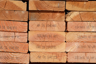 Builders are currently grappling with lumber prices, which have quadrupled in the past year.