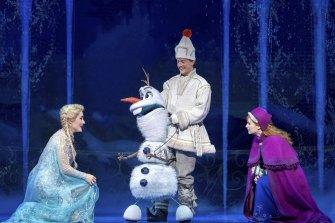 Jemma Rix, Matt Lee and Courtney Monsma in Frozen the Musical