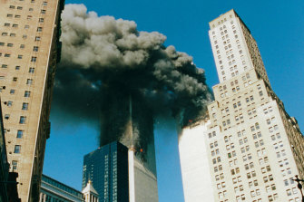 A shot taken by Tania Mattei as she left her apartment building on September 11, 2001.