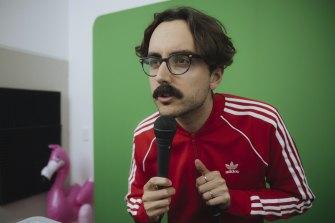 Daniel Muggleton hosts The Running Joke online during lockdown.