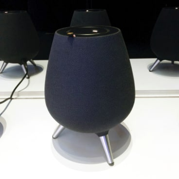 The Galaxy Home smart speaker.