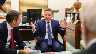 Shadow treasurer Chris Bowen and Labor's finance spokesman Jim Chalmers talk through the party's election costings.
